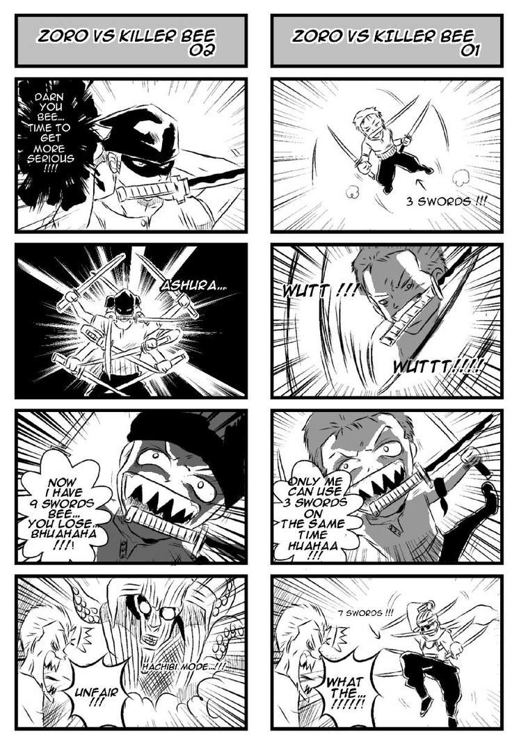 Zoro VS Killerbee Zoro_VS_Killer_Bee_by_BambooSpear