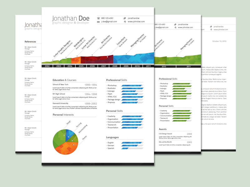 Trendyme Premium Resume Template By SupremeThemes On DeviantArt - Timeline resume template