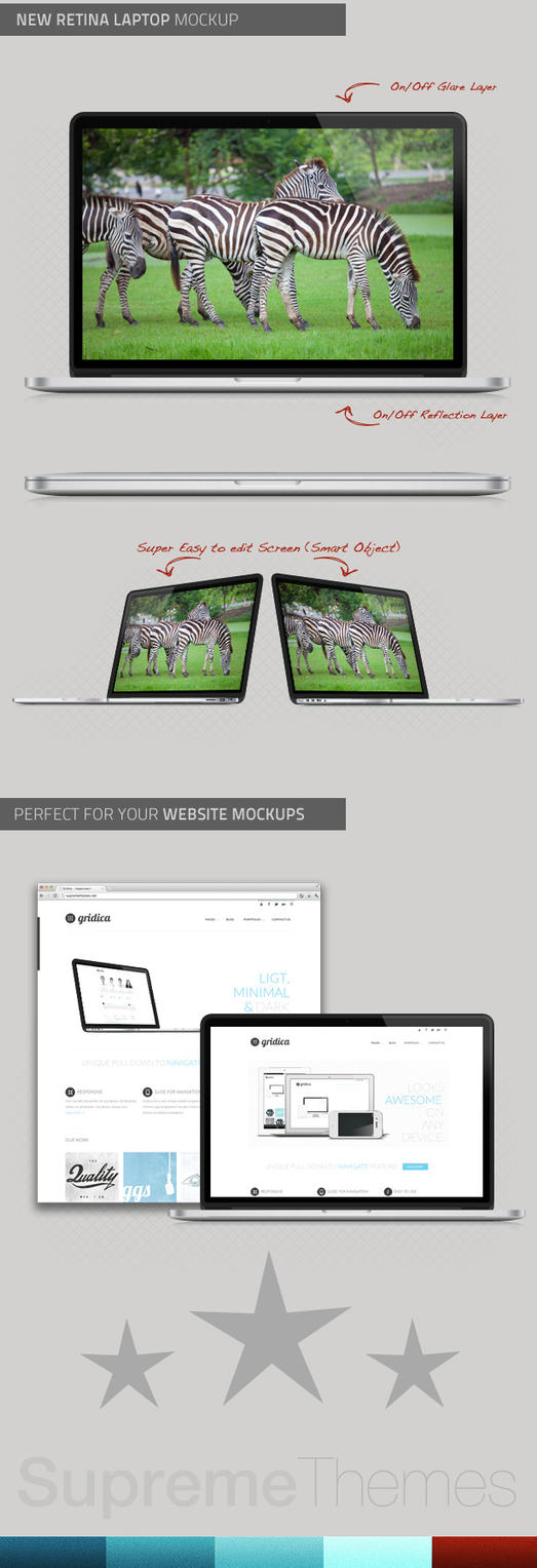 New Macbook Pro with Retina .PSD Mockup by SupremeThemes