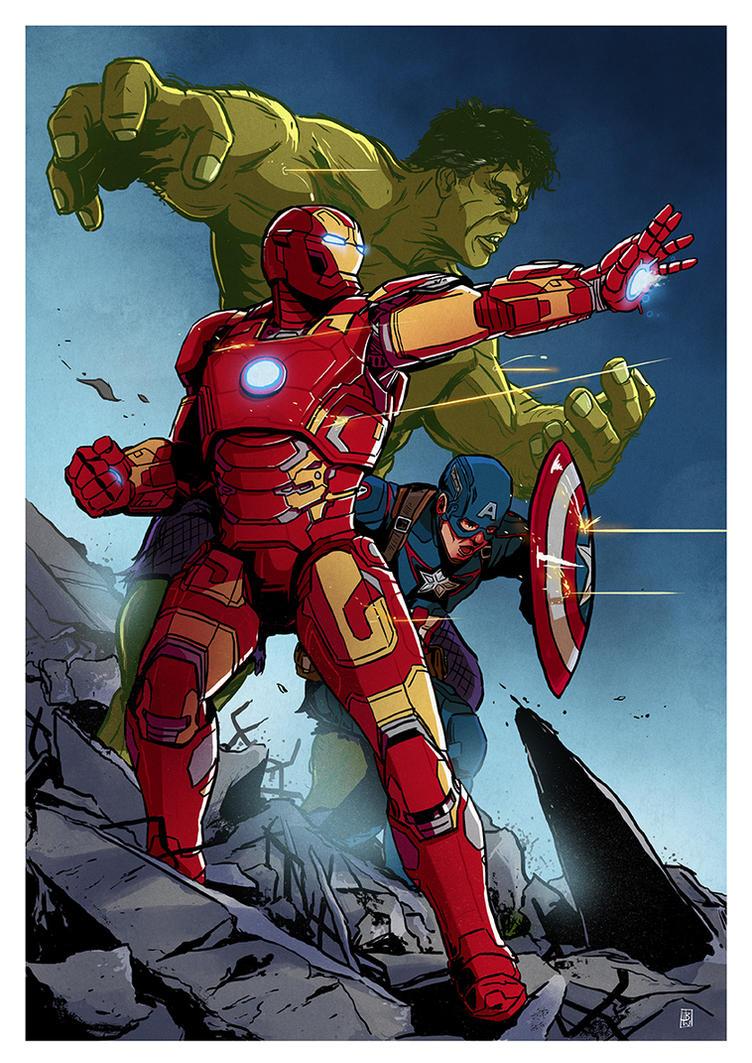 Avengers comission colours by Ben-Wilsonham