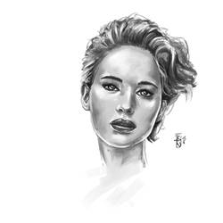 Jennifer Lawrence Study by Ben-Wilsonham