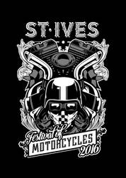 St. Ives Festival of Motorcycles 2016 T-shirt by Ben-Wilsonham