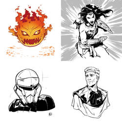 Inktober Sketch Series by Ben-Wilsonham