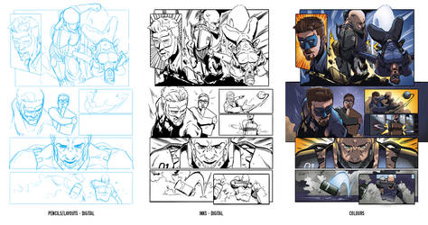 The Pride comic page process by Ben-Wilsonham