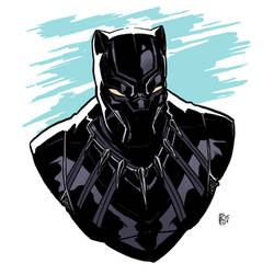Black Panther Sketch by Ben-Wilsonham