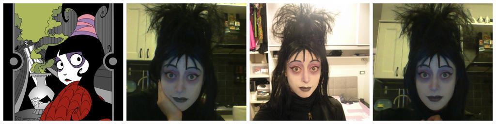 Lydia Deetz Makeup test by Lady-Ragdoll