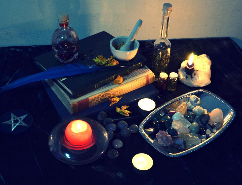 Witchy lab by Lady-Ragdoll