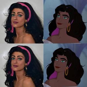 esmeralda makeup comparison
