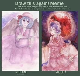 Draw this again Remilia Scarlet by KurokoriOkami