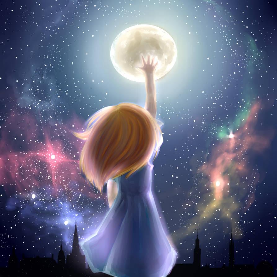 Reach for the Moon by KurokoriOkami