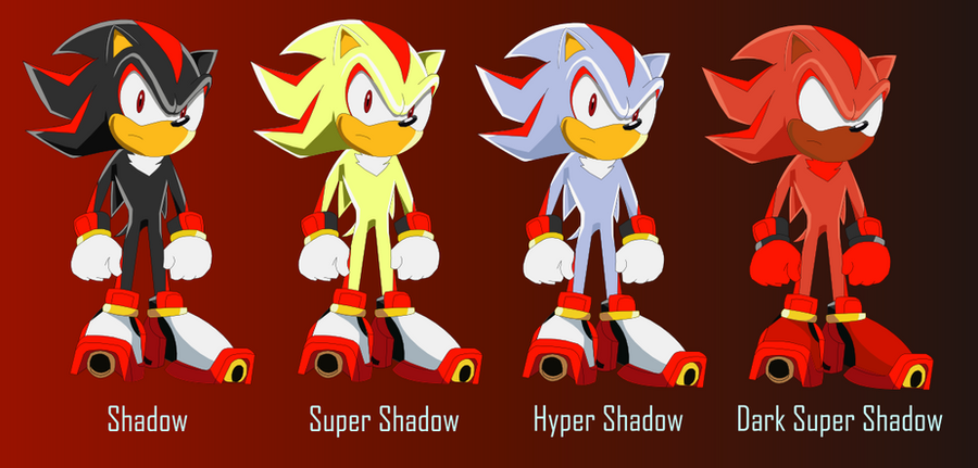 Shadow TH  Multiple Forms by alvarobmk123 on DeviantArt