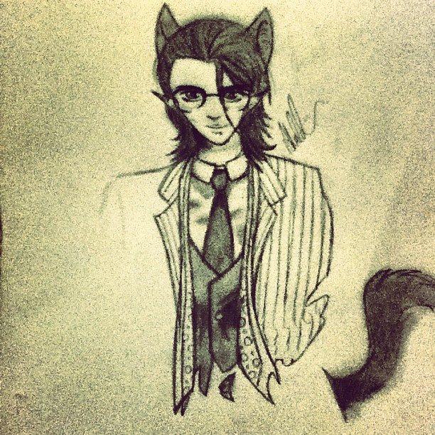 Nerd Loki-Kitty by XxAnimeFreakynessxX