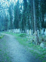 Places:Graveyards III by p-p-stock