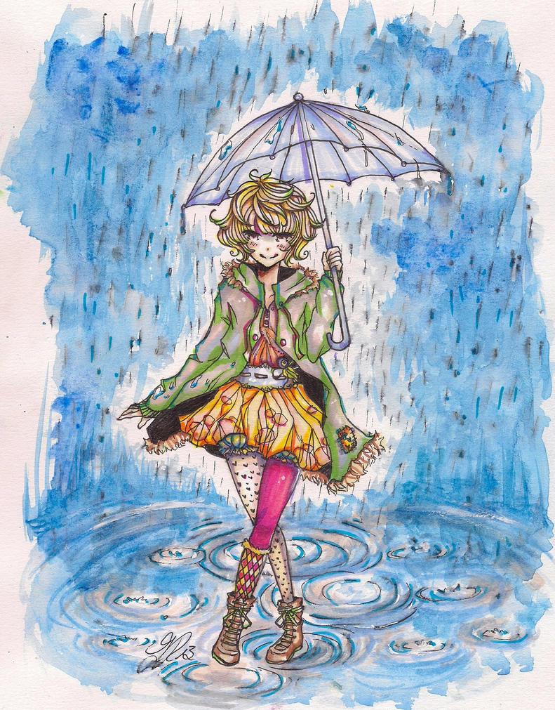walking in the rain [update] by anemontaglub