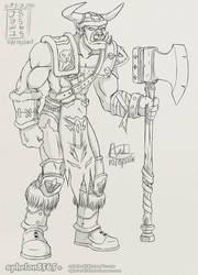 [OC] Orc Grunt by sphelon8565