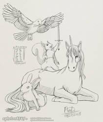 [OC] Harmonious Creatures by sphelon8565