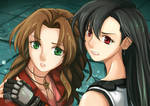 SM ReDraw: but It's FFVII's Aerith with Tifa!