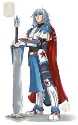 [OC] Sir Sigmund - Wandering Salamence Knight