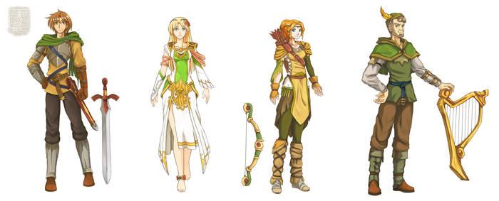 [OC] Fantasy Pilot Characters
