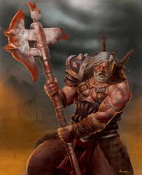 Barbarian warrior character card