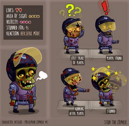 Stun The Zombie Policeman #1 characters