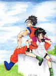 Gohan and Videl by Rakka-chan