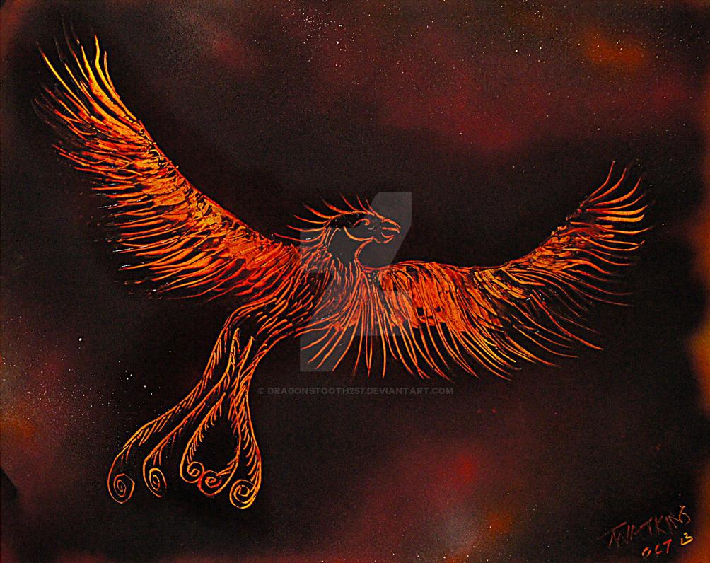 Phoenix Spray Paint Art By Dragonstooth257 On Deviantart