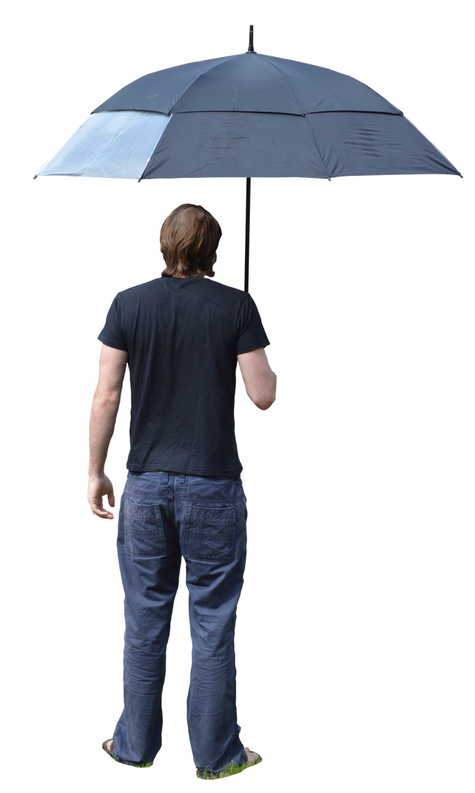 Holding Umbrella 1 by MindSqueeZe