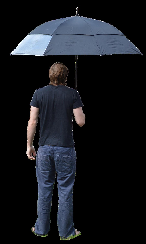 Holding Umbrella 1