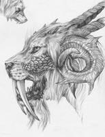saberRam Dragon by RaccoonGamer404