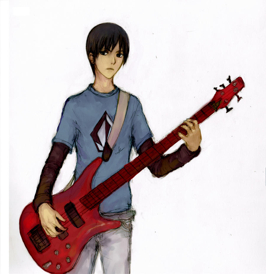 SAI: indie boy by pancake-waddle on DeviantArt Anime Bass Player