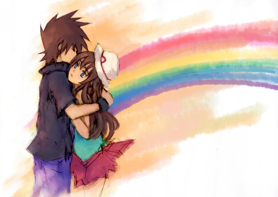 rainbow running through us by pancake-waddle