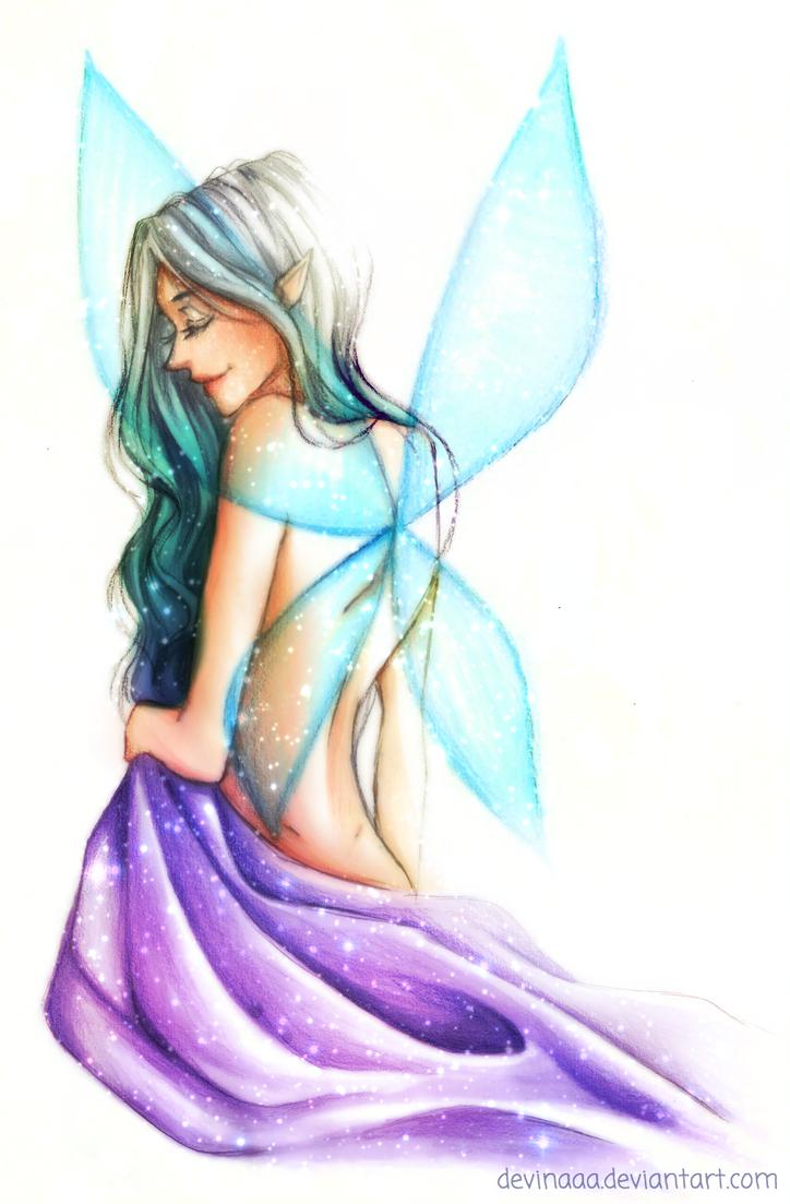 Winged Elf by devinaaa