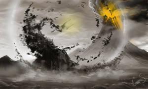 Fall of Sauron by Caoranach