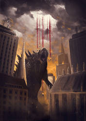 Godzilla by Caoranach