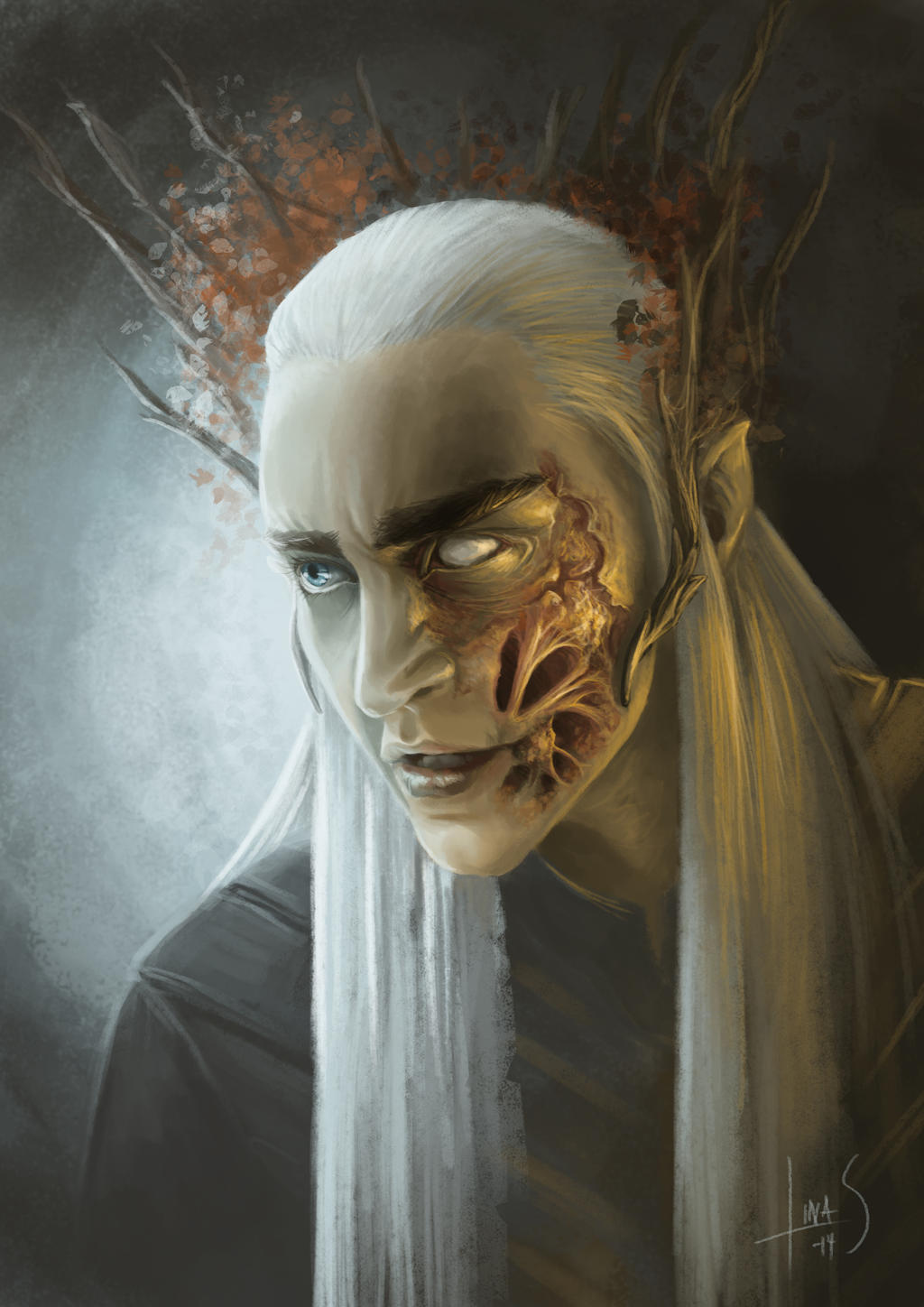 The Scar & the Spiral... Thranduil_of_the_woodland_realm_by_caoranach-d87nxlc