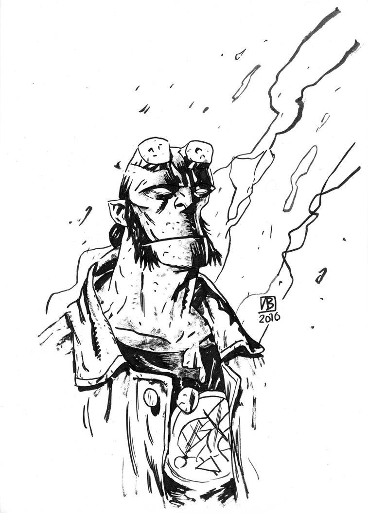 Hellboy (commission) by vladlegostayev