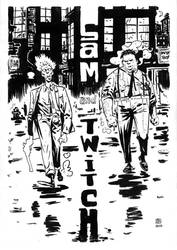 Sam and Twitch  (art trade) BW