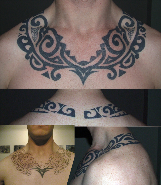 Borneo Tribal - chest tattoo
