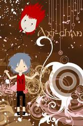 Axi-Chan and Axel Balloon by axilya