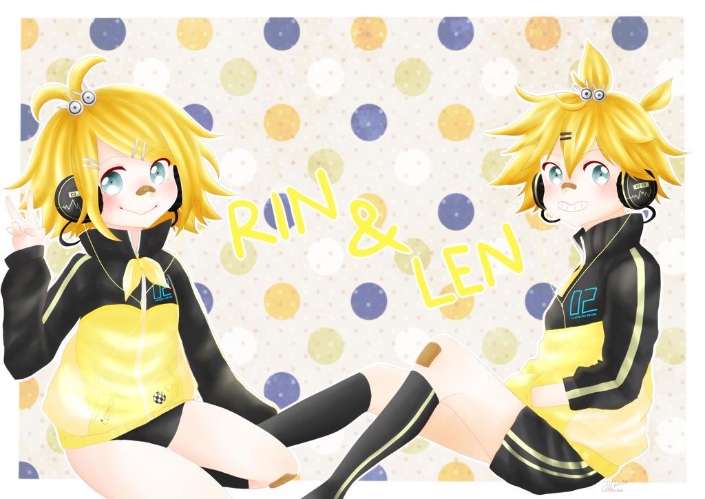 Rin and Len Kagamine by kitsuuOTAKU
