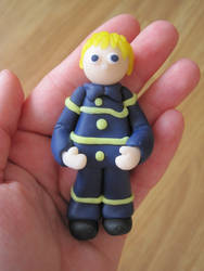 Fimo Firefighter by Sompy-Stuff