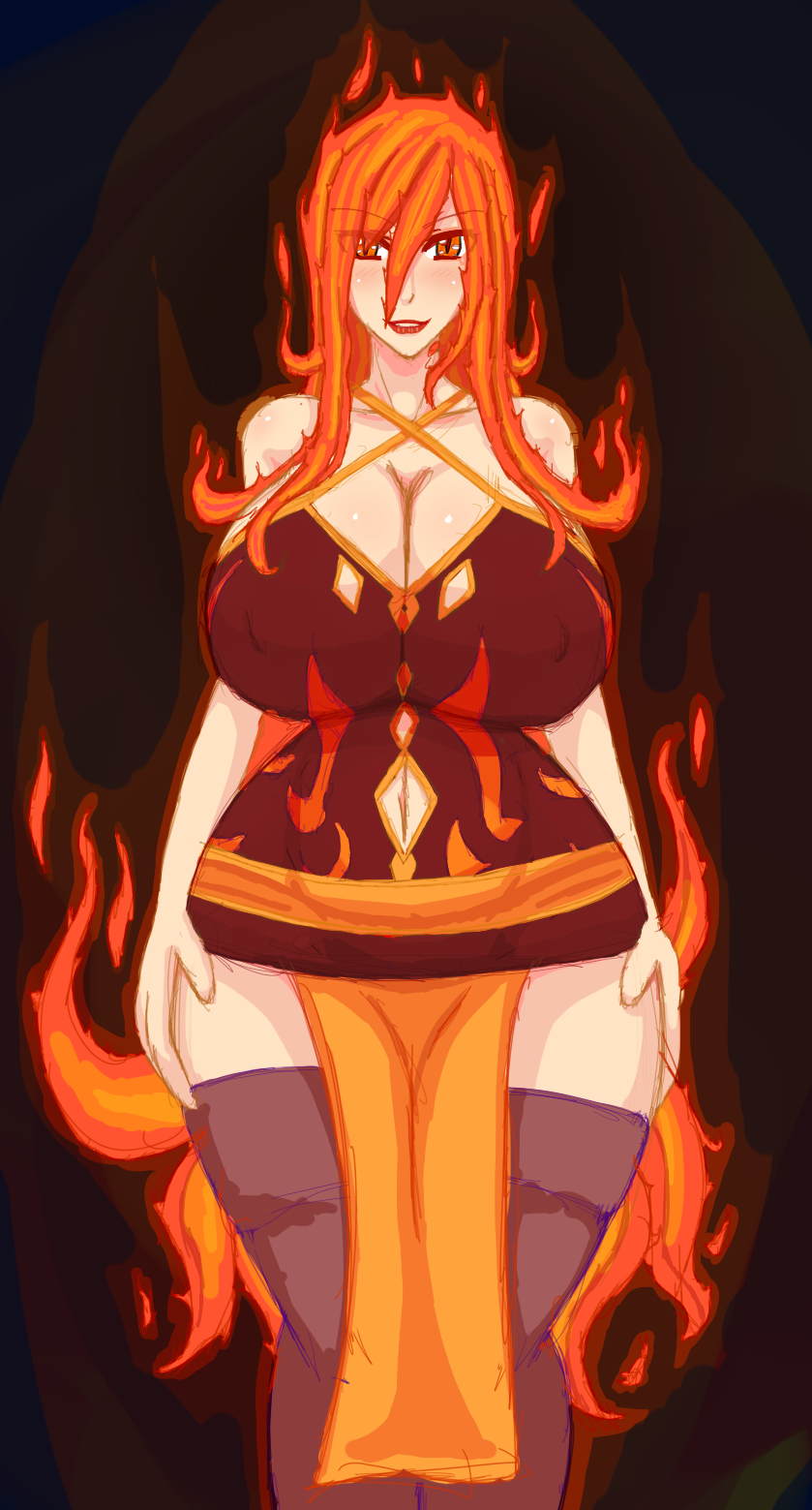 Melicia - Flame Demon / Sorceress by Doom-san
