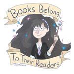 Books Belong to their readers by Kiwiashtonart