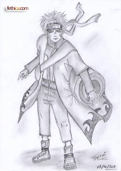 Naruto Uzumaki Sage Mo... Naruto Uzumaki Sage Mode Drawing