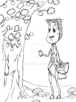Happy Ant Line-Art