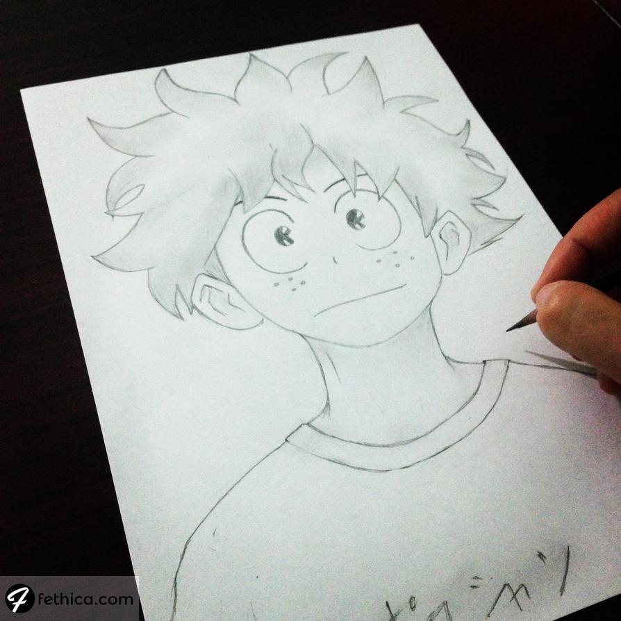 Izuku Midoriya - Boku no Hero Academia by fethica