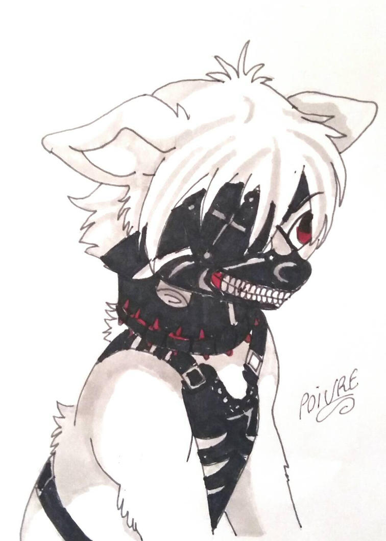 tokyo ghoul kaneki version dog by moondaneka