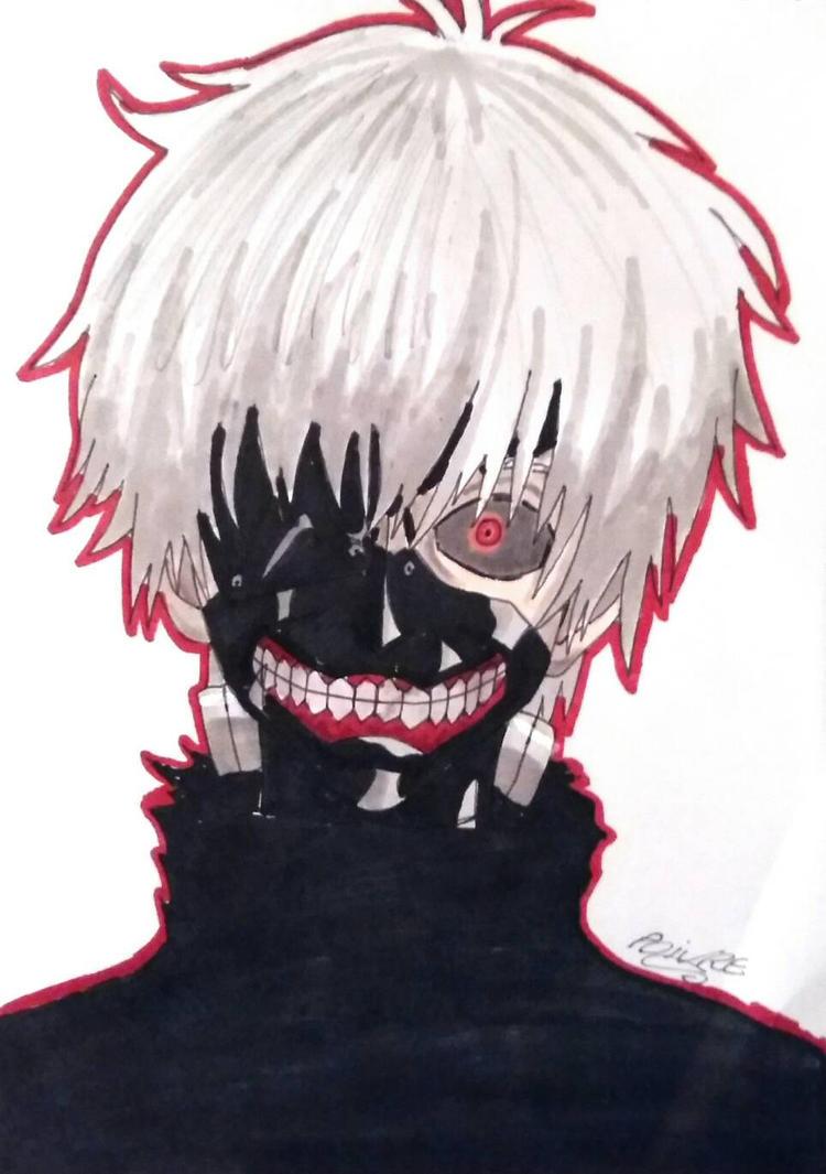 tokyo ghoul kaneki mask by moondaneka