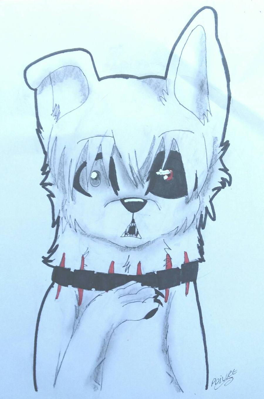 tokyo ghoul Kaneki dog by moondaneka